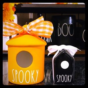 Small orange Spooky Birdhouse